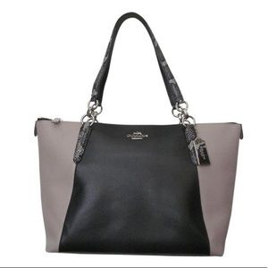 Coach F38308 Ava Tote In Black, Taupe and Exotic